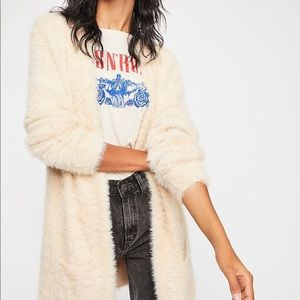New with Tags Free People Fuzzy Sweater